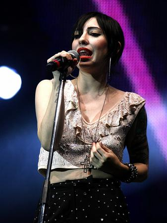The Veronicas on stage at the Jingle Bell Ball