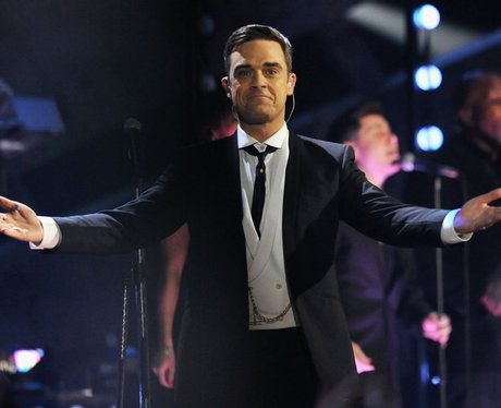 Robbie Williams on stage