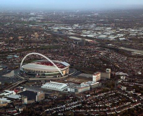 Wembley Stadium Aerial View Wembley Stadium Aerial View