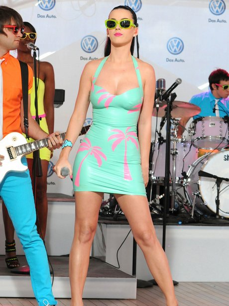 Katy Perry performing live on stage