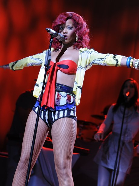 Rihanna performing on her 'Loud' world tour.