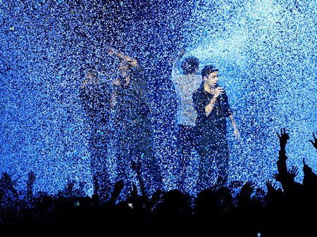 The Wanted performing at the Jingle Bell Ball