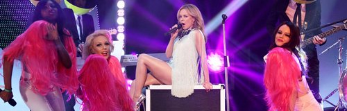 Kylie Minogue performing live