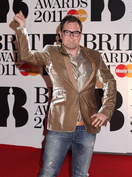 Alan Carr arriving for the 2011 Brit Awards