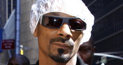 snoop dogg with shower cap
