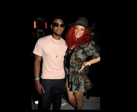 Usher and Rihanna at Coachella Pic: Twitter