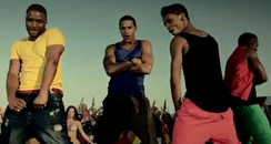 JLS in a still from their music video for single 'She Makes Me Wanna'