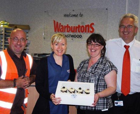 Ellen and the team, Warburtons