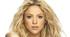 Shakira with gold underwear