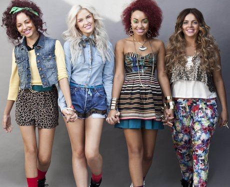Little Mix pose for a press shot before they became winners of The X Factor 2011