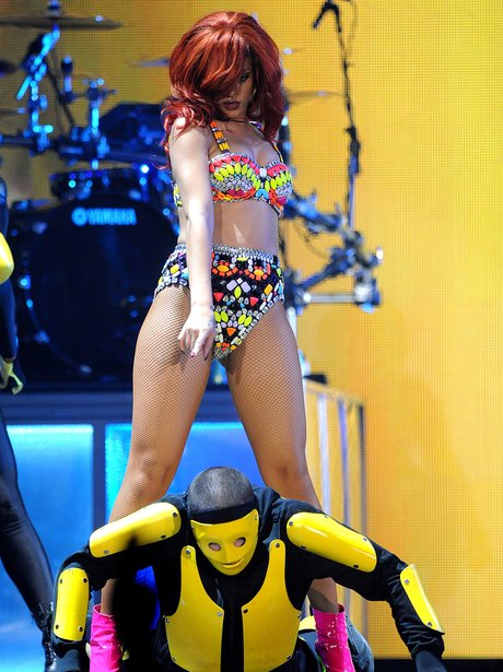 Rihanna performing on her 'Loud Tour'