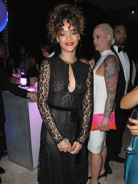 Rihanna attends New Years eve party