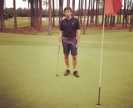 Example plays golf