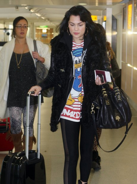 Jessie J at Heathrow