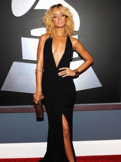 Rihanna Grammy Awards 2012 red carpet