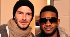 David Beckham with Usher