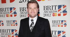James Corden arrives at the BRIT Awards 2012