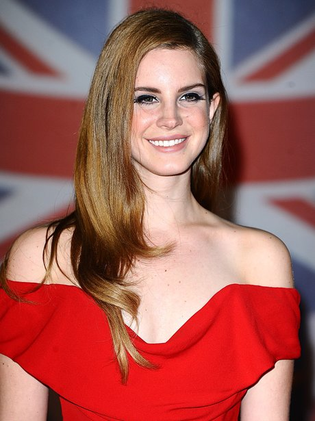 Lana Del Ray arrives at the BRIT Awards 2012