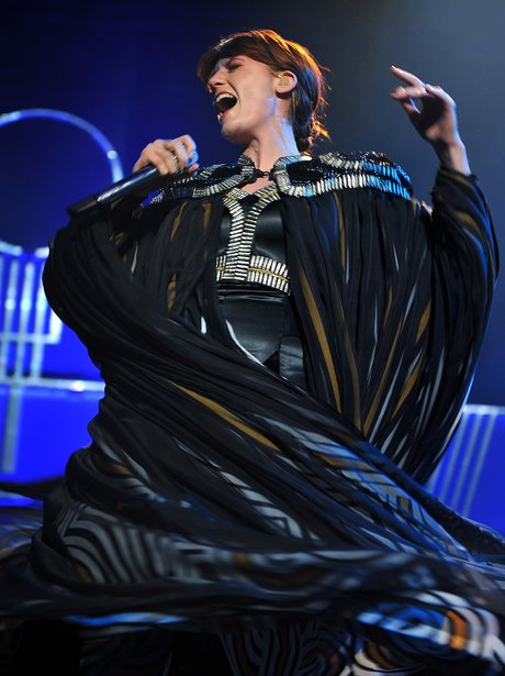 Florence Welch on stage