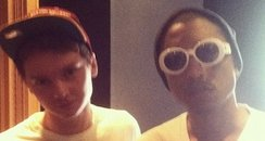 Conor Maynard with Pharrell Williams
