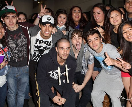 The Wanted with fans in LA