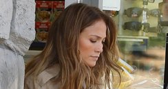J-lo with son