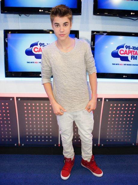 Justin Bieber at Capital FM