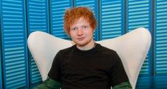 Ed Sheeran backstage at the Summertime Ball 2012