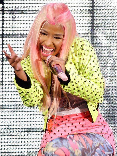 Nicki Minaj live on stage.