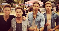 Lawson outside the olympic stadium