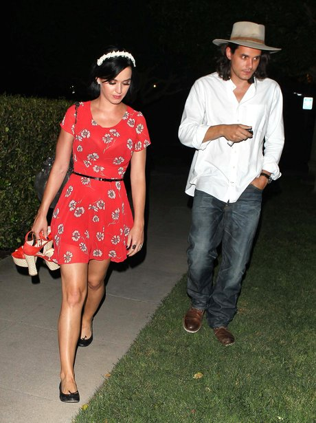 Katy Perry and John Mayer in Los Angeles.