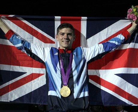 Luke Campbell with his gold medal and Union Jack