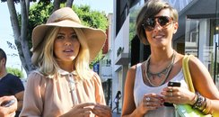 Mollie King and Frankie Sandford shopping