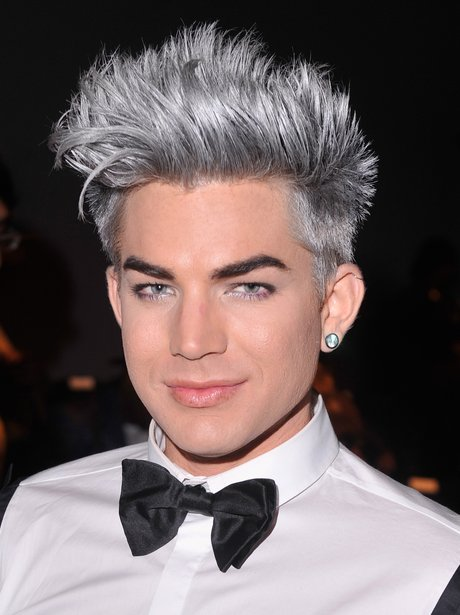 Adam Lambert with silver hair