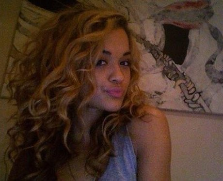 Rita Ora with blonde hair