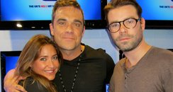 Robbie Williams with Dave Berry and Lisa Snowdon