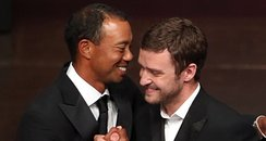 Justin Timberlake and Tiger Woods at Ryder Cup Gal