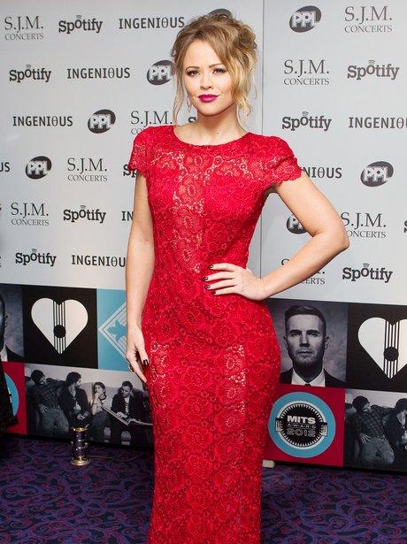 Kimberley Walsh at Music Industry Trust Awards