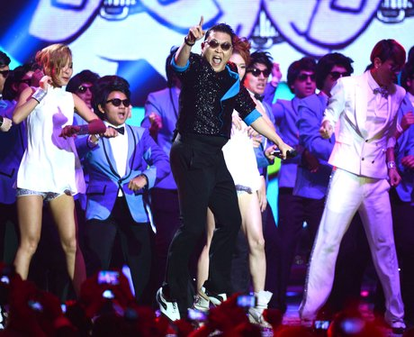 Psy performs during the 2012 MTV European Music Awards