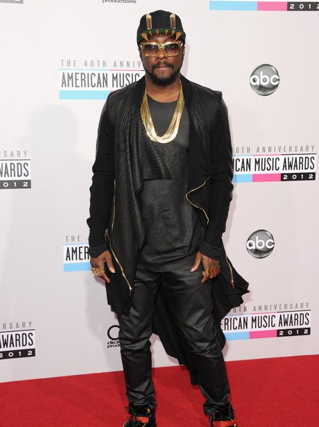 Will.i.am arrives at the American Music Awards 2012
