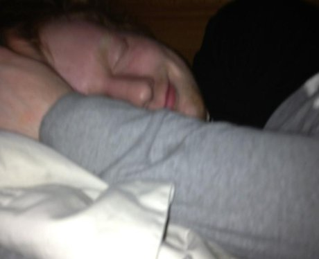 Ed Sheeran sleeping