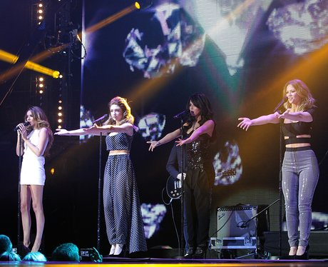 Girls Aloud at the Jingle Bell Ball 2012