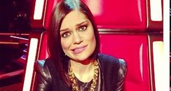 Jessie J on set for The Voice 2