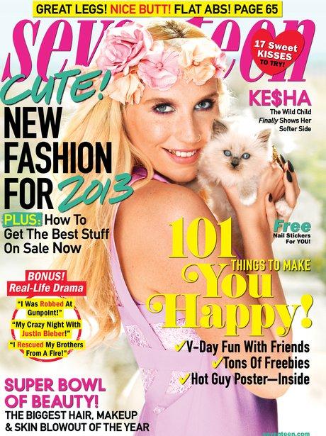 Ke$ha covers Seventeen Magazine