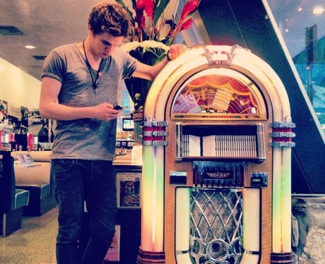 Joel from Lawson at the jukebox