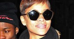 Rihanna wearing pentagon glasses