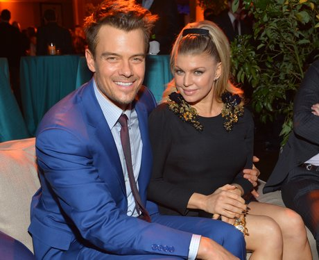 Josh Duhamel and Fergie at the premiere of Safe Haven
