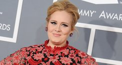 Adele arrives at the Grammy Awards 2013