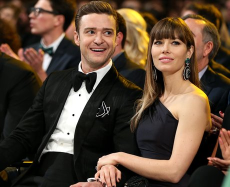 Justin Timberlake and Jessica Biel  at the Grammy