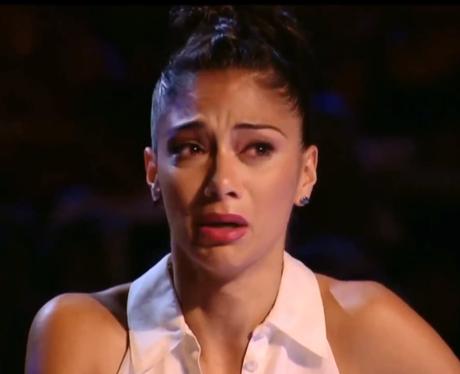 Nicole Scherzinger crying on The X Factor